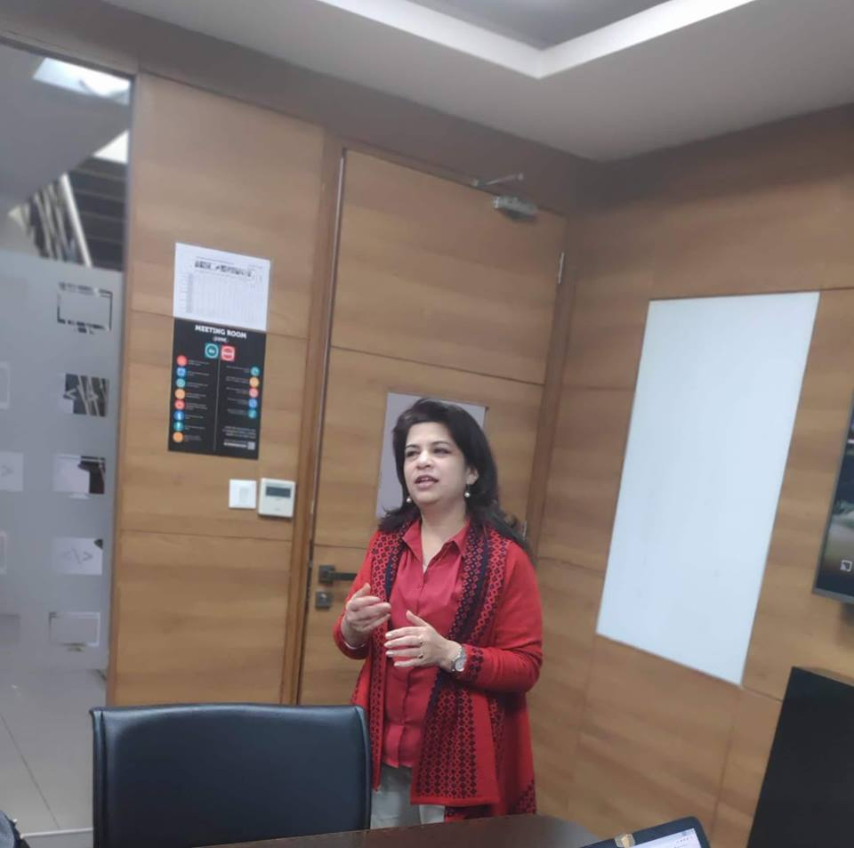 Meena at Mompreneur Circle Networking Meet