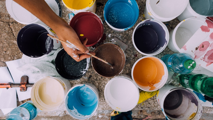 healthy life with paint