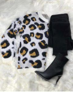 Leopard Printed Sweater