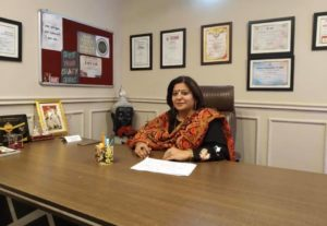 Sangeeta in her Office