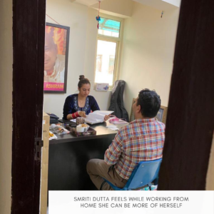 Smriti Dutta feels while working from home she can be more of herself