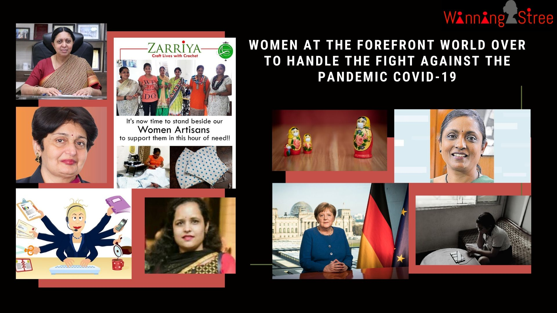 Women at the Forefront World Over to Handle the fight against the Pandemic COVID-19