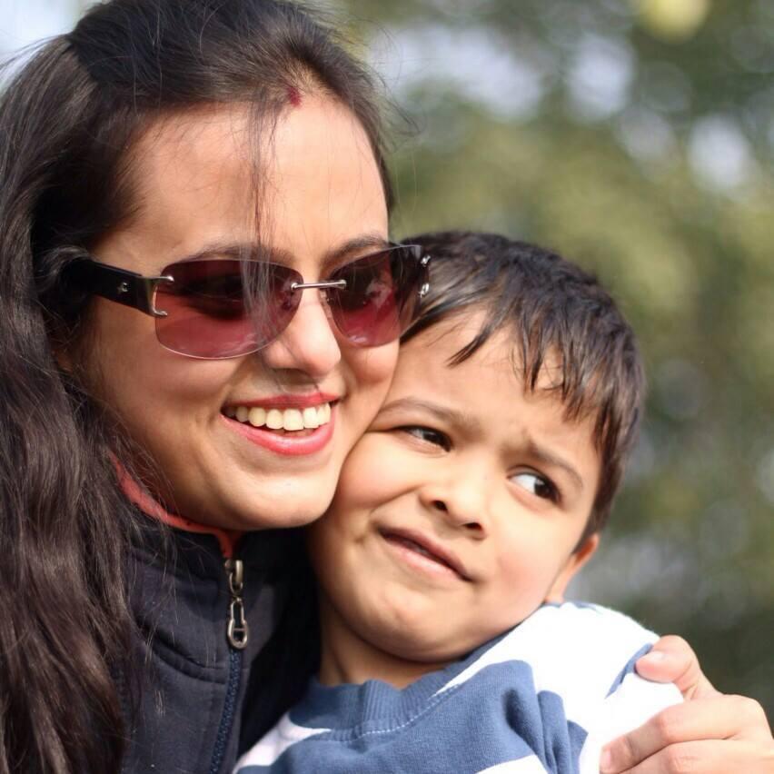 Divya Agarwal With Her Kid