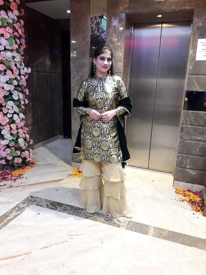 Fashion Designer Sukriti in Sharara