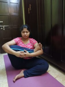Tanupriya practicing Yoga
