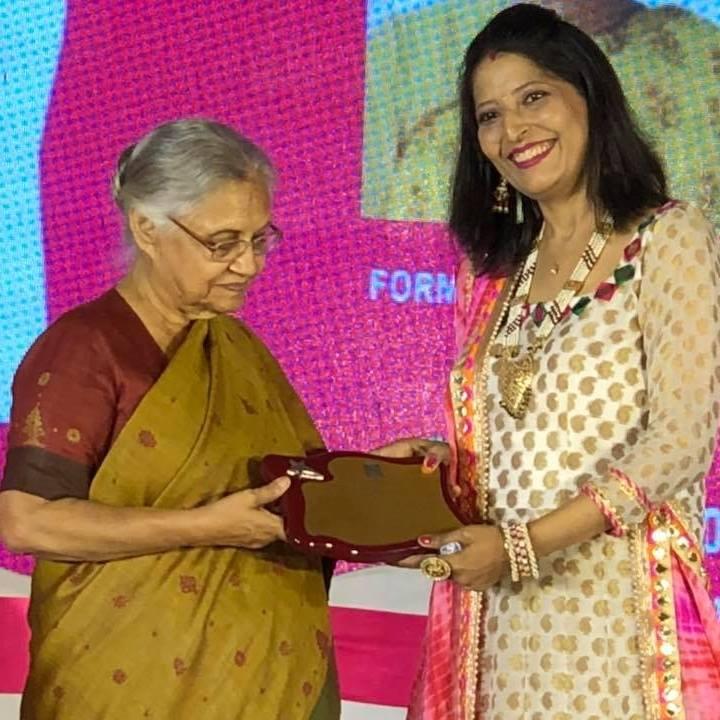Ritu Deshpande with Sheila Dixit