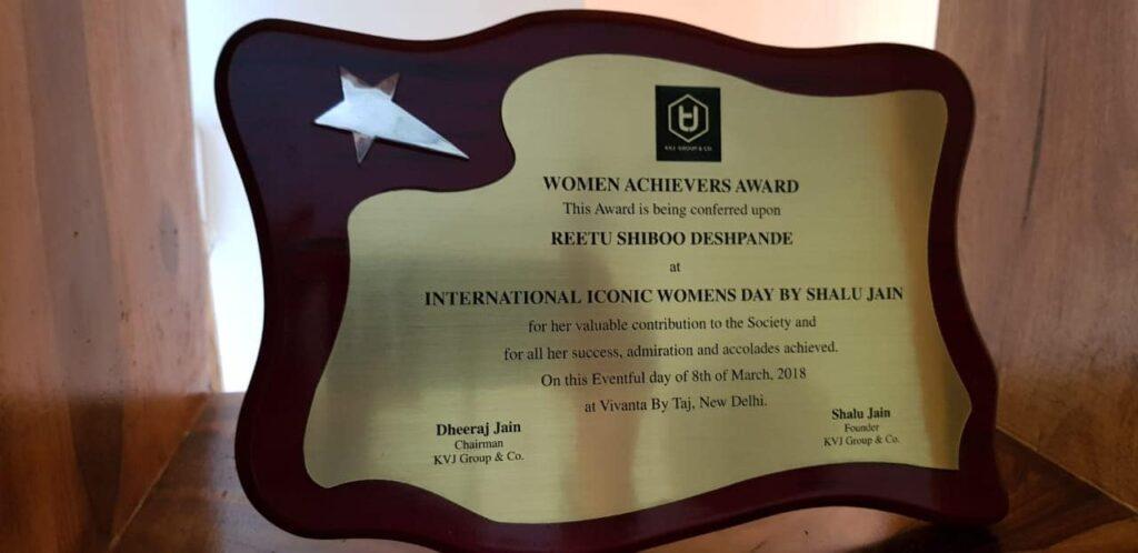 Award of Ritu Deshpande