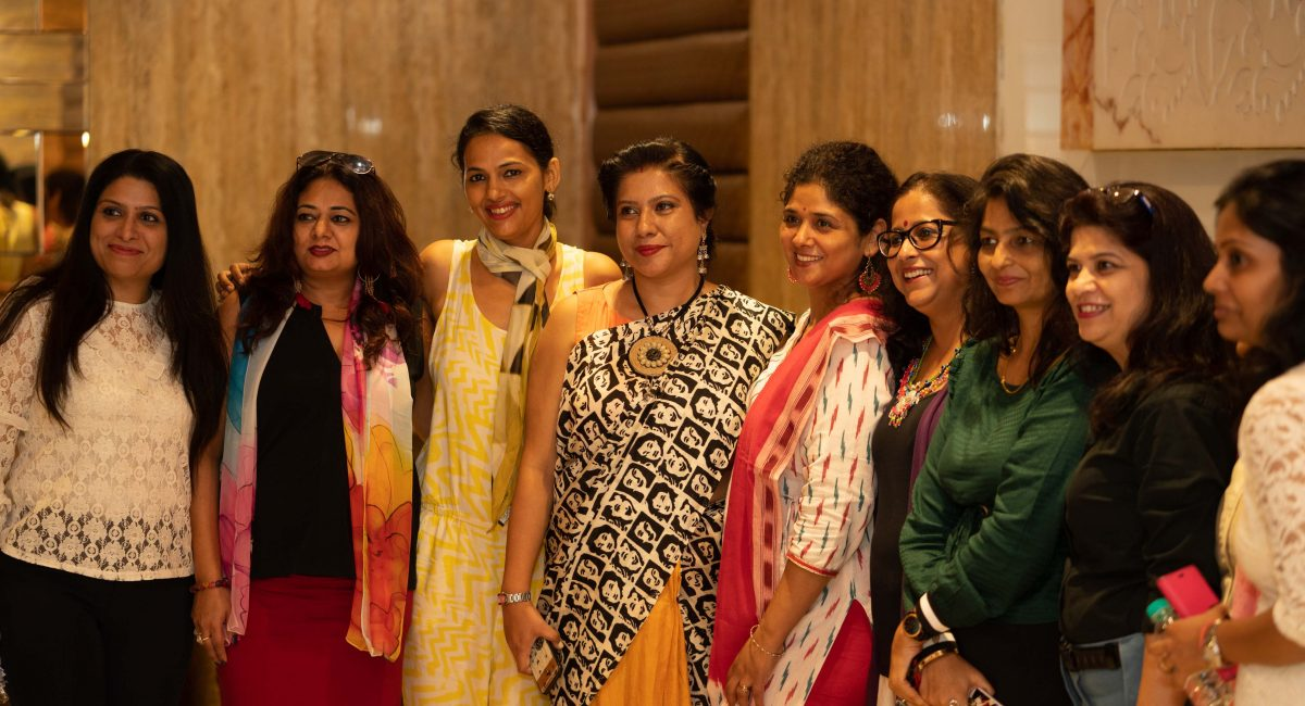 Left To Right: Prachi Chopra, Purnima Bahuguna, Tanusri Chakraborty, Neelam Singh Bist, Sriprana Das, Protima Sharma, Meena Kapoor, Shafali Agarwal