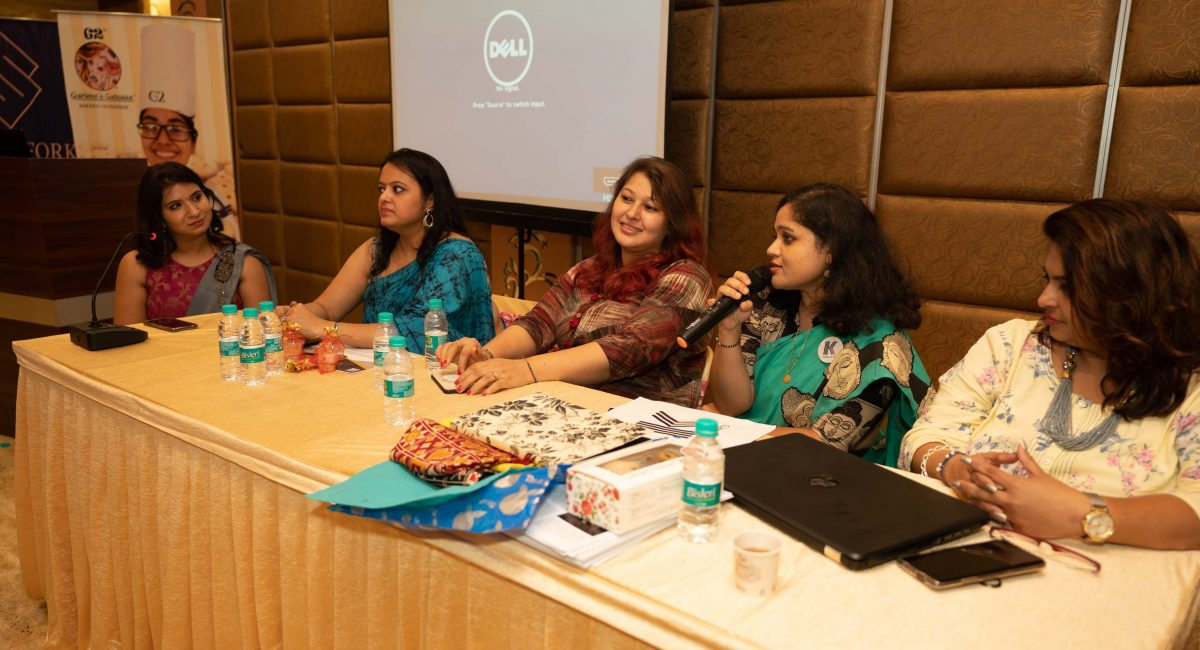 Panel Discussion Left to Right: Surbhi Rastogi, Divya Agarwal, Bhavna Minocha, Minal Chatterjee, Richa Mongia