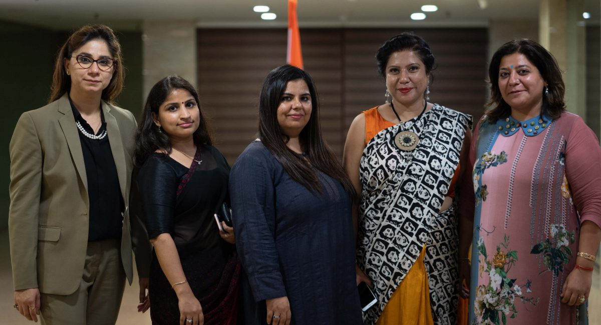 Left to Right: Vandana Nagpaul,Rajni Minhas, Navneet Momi, Tanusri Chakraborty, Sangeeta Ahuja
